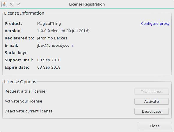 License manager integration java – uniVocity data integration