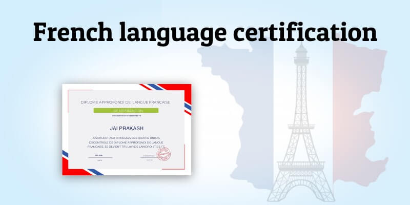 1852 French language certification