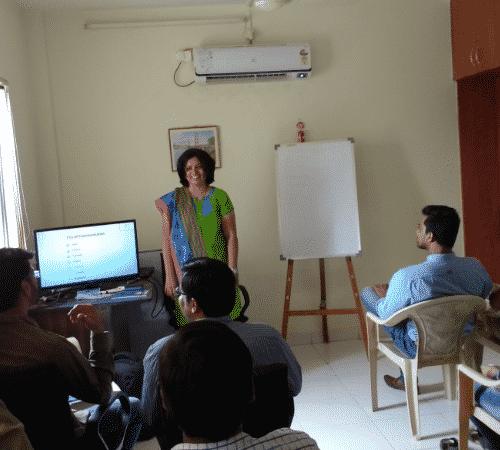 Mousami Nilakhe, a Communication Skills Trainer taking Classes