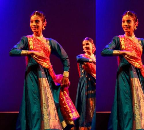 Aishwarya performing Kathak dance