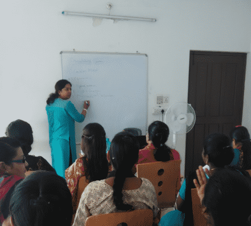 Urmila, Medical Entrance Exam Trainer taking a class