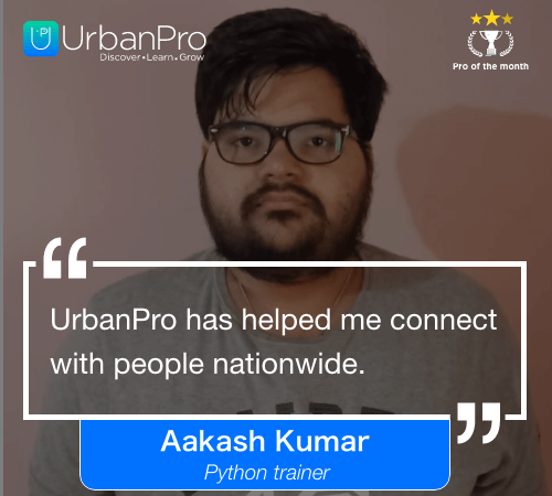 Aakash Kumar Pro of the month- august 1 week