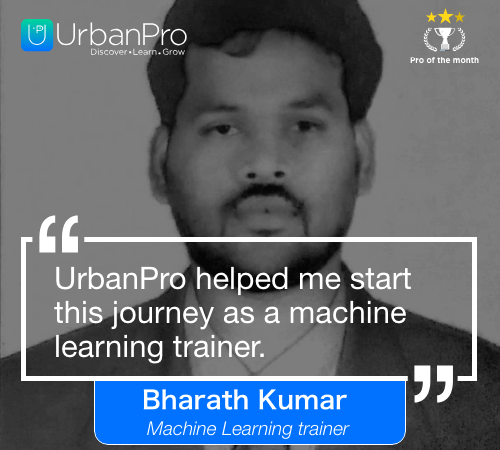 Bharath kumar Pro of the month- APRIL 4 week