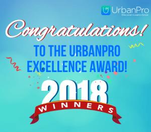 Congratulations - winners of UrbanPro Excellence Award 2017 -- 500 X 450