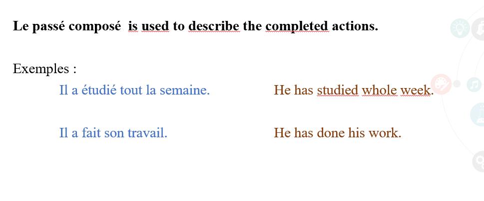 Description of Passe Compose - French Language
