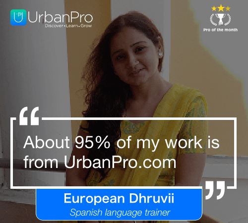 European Dhruvii Pro of the month- JUly 4 week