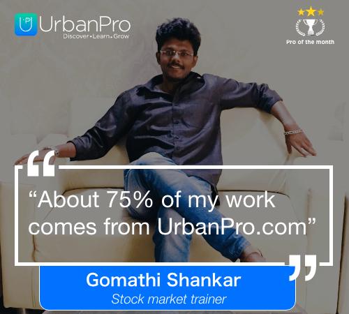 Gomathi Shankar Pro of the month- oct 4 week