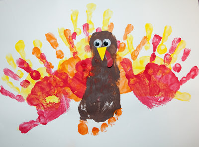 DIY hand and foot painting activity