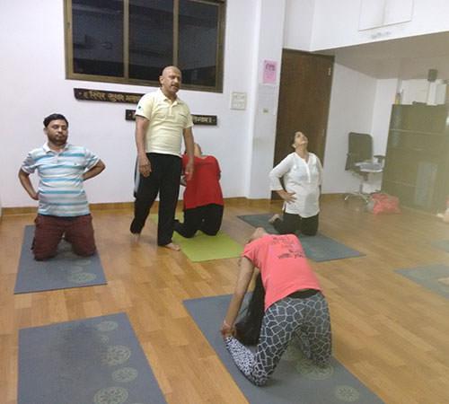 Harshad J Salla with his students