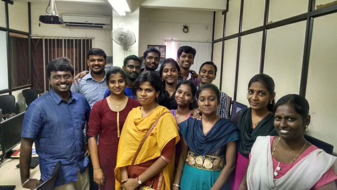 Ashok with his students