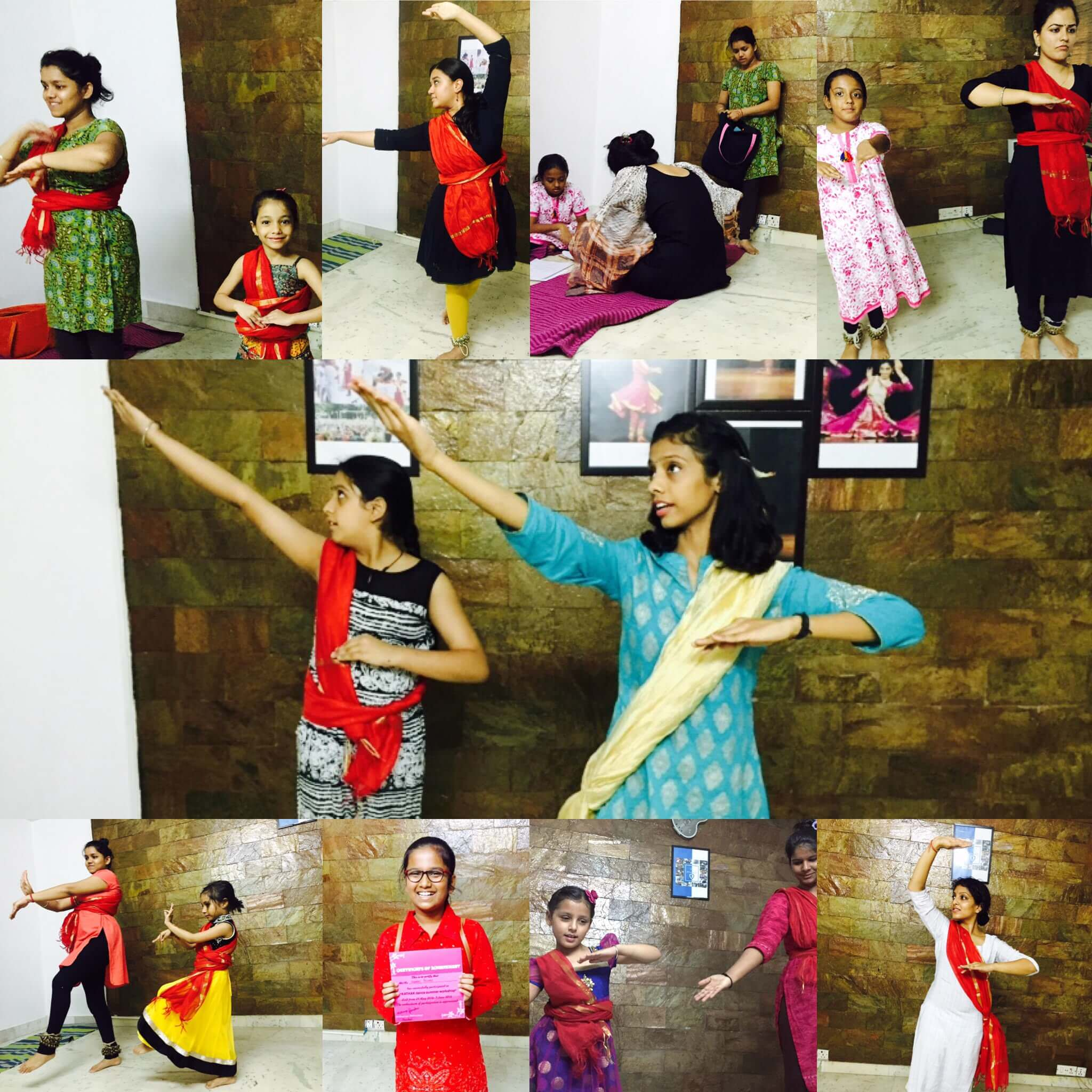 Aishwarya teaching Kathak dance