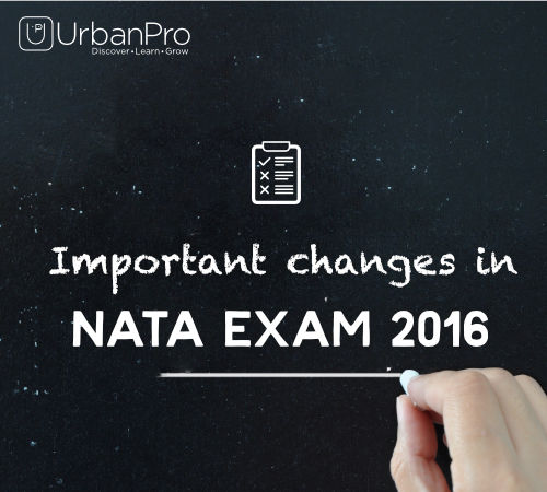 Important changes in NATA Exam 2016