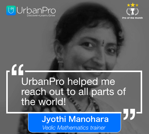 Jyothi Manohara Pro of the month- may 1 week