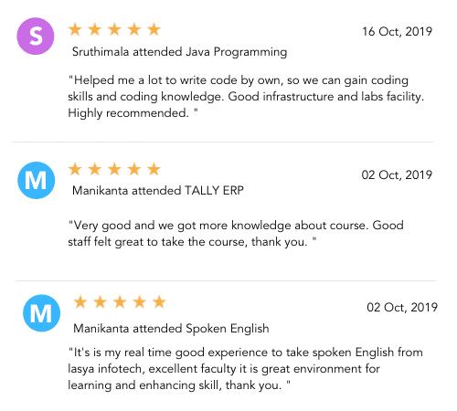 Lasya Infortech reviews