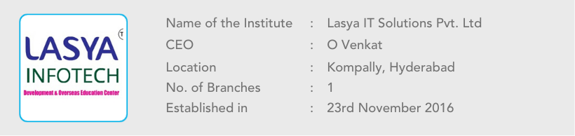 Lasya Infotech of Name of the Institute (1)