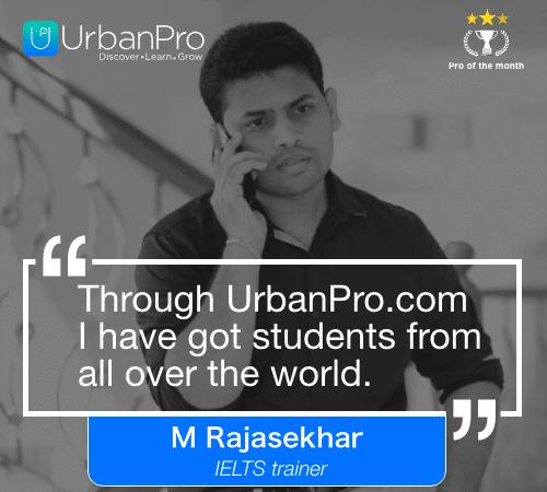 M Rajasekhar Pro of the month- JUNE 3 week