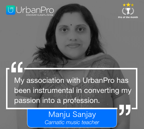 Manju Sanjay Pro of the month- March 2 week