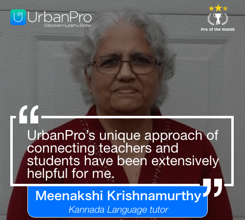 Meenakshi Krishnamurthy Pro of the month- September 4 week