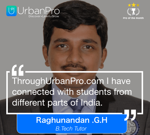 Raghunandan .G.H of the month- Nov 3 week – 1