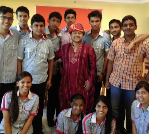 Rahul Ghosh with his students