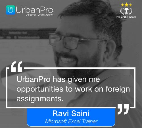 Ravi Saini Pro of the month- APRIL 1 week