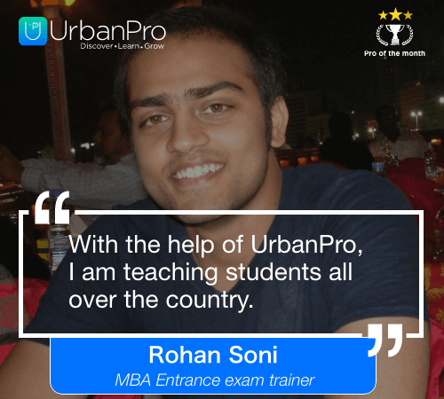 Rohan Soni Pro of the month- oct 1 week