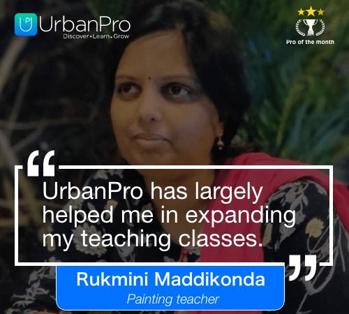 Rukmini Maddikonda Pro of the month- JUly 1 week