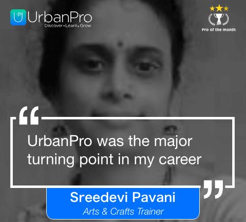 Sreedevi Pavani Pro of the month- APRIL 2 week