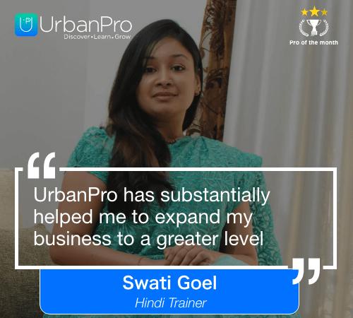 Swati Goel Pro of the month- oct 3 week