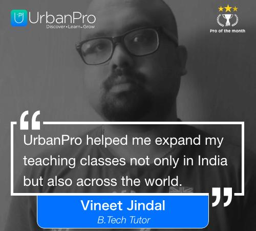 Vineet Jindal Pro of the month- September 2 week