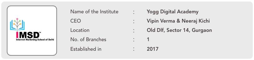 Yogg Digital Academy institute information