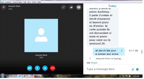 Deepalakshmi, taking online French Class