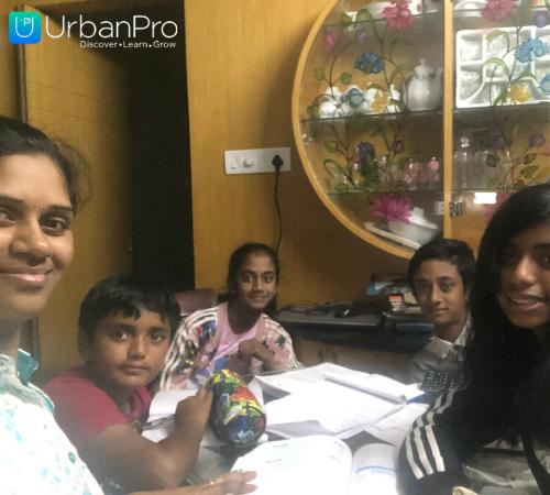 sandhya and students