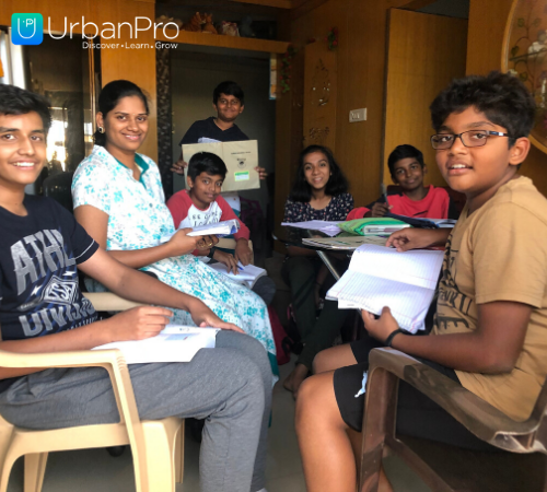 sandhya with students