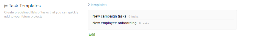 Creating task list templates Teamwork Projects Helpdocs