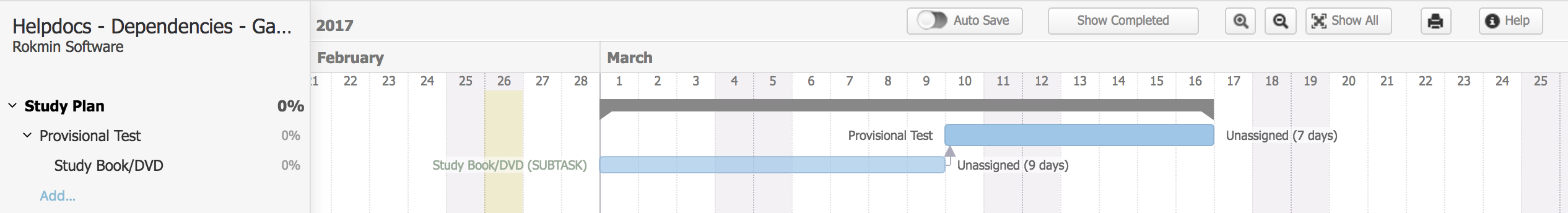 Changing Dates Of Tasks With Dependencies In The Gantt Chart
