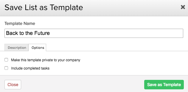 Creating A Template From An Existing Task List Teamwork Projects - Task list template