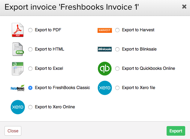 Exporting An Invoice To FreshBooks Classic Teamwork Projects Support - Freshbooks invoice pdf