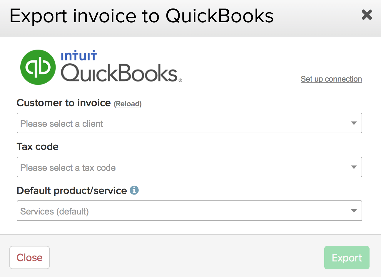 Exporting An Invoice To Quickbooks Online Teamwork Projects Support - Invoice quickbooks
