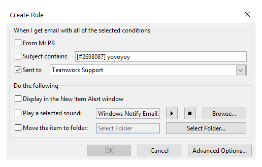 Forwarding Emails to Teamwork Desk from Outlook - Teamwork
