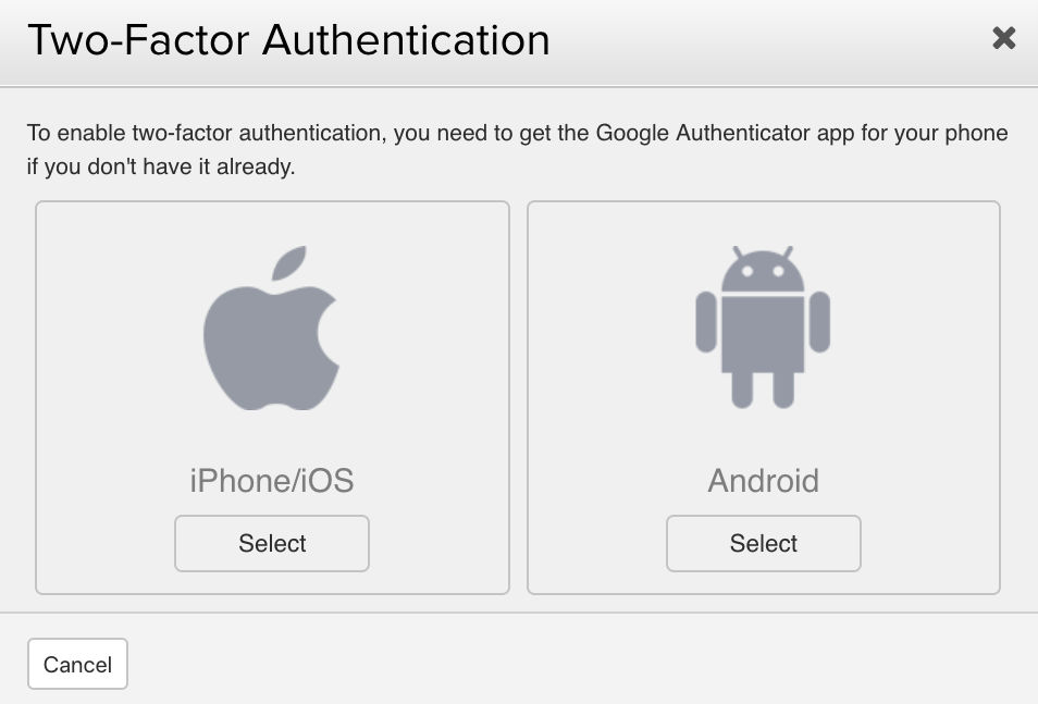 Enabling Two-Factor Authentication on Your Profile