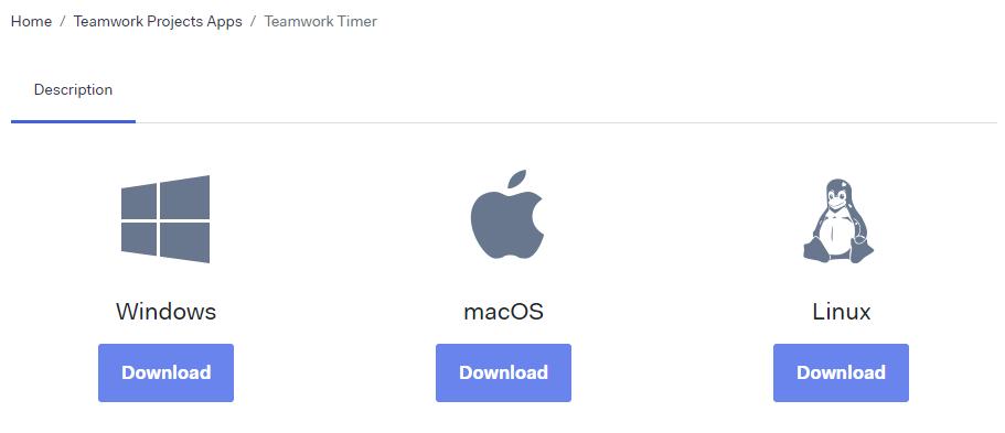 Downloading the Teamwork Timer Desktop App - Teamwork Projects Support