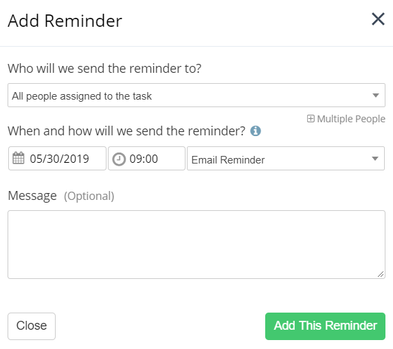 Setting Recurring Task Reminders - Teamwork Projects Support