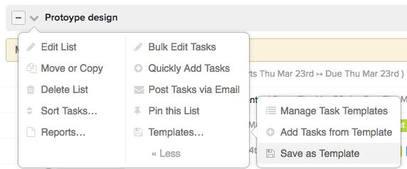 task list template