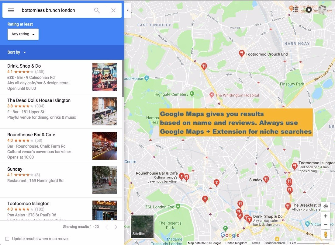 Niche Searches - Always use Google Maps and the Extension ... on google advanced search page, google secrets searches, instagram searches,