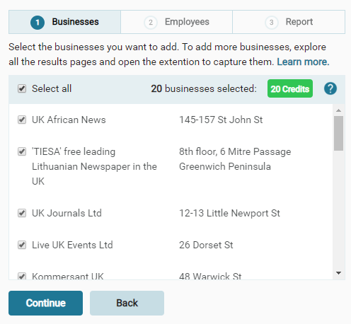 How do I add more businesses to my report? - Support at ... Go Back To Google Maps on go to amazon, go to netflix, go to internet, go to mail, go to ebay, go to home, go to settings, go to email, go to facebook,
