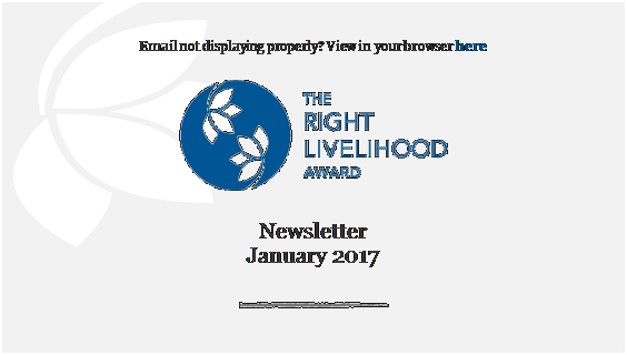 Newsletter January 2017