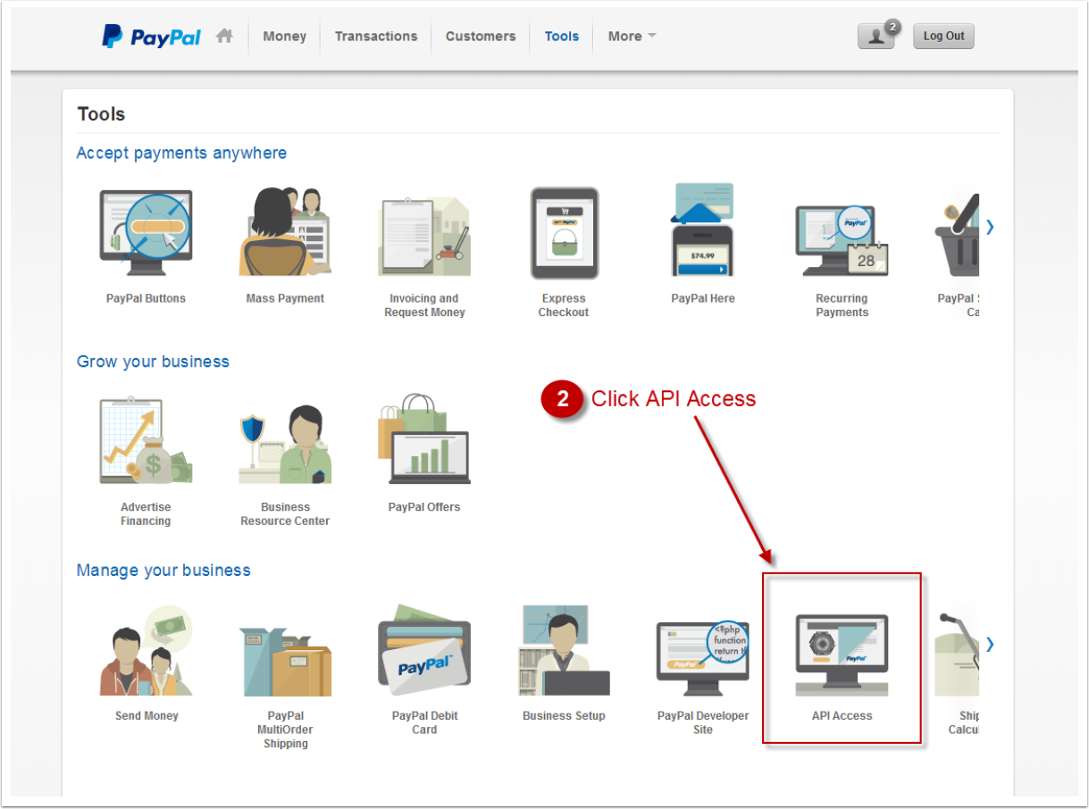 How to setup PayPal payment gateway (NEW interface) - MOHID