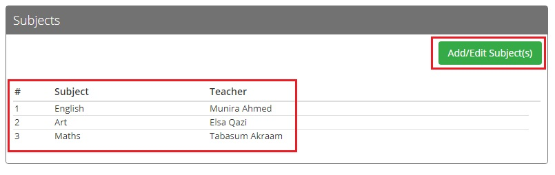 How to add subjects and associate teachers? - MOHID How To
