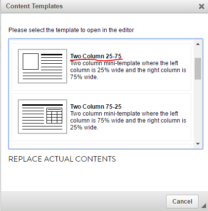 How to Use a Template in the ZLCMS Text Editor - Zipline Help Docs